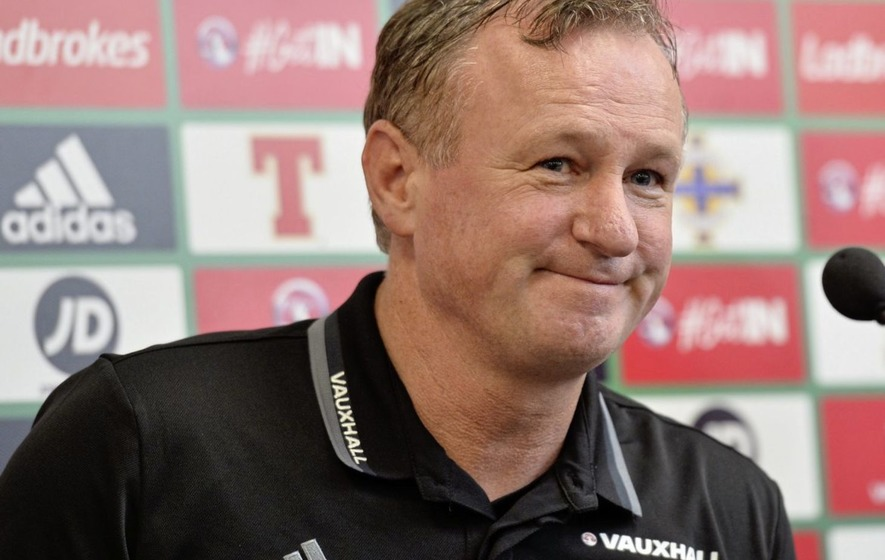 Northern Ireland manager Michael O'Neill laughs off Scotland links