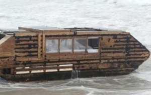 Houseboat that drifted from Canada washes up on Co Mayo beach