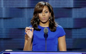 Michelle Obama laughs off calls to run against Donald Trump in four years
