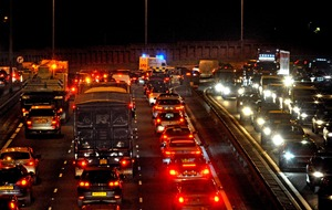 Long traffic jams after lorry sheds its load on Westlink motorway in Belfast