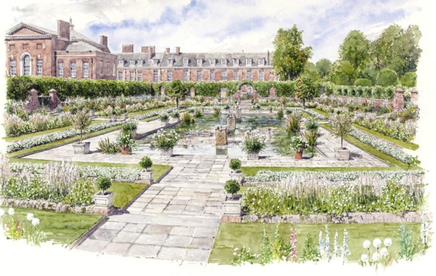 White garden to commemorate death of Diana, Princess of Wales
