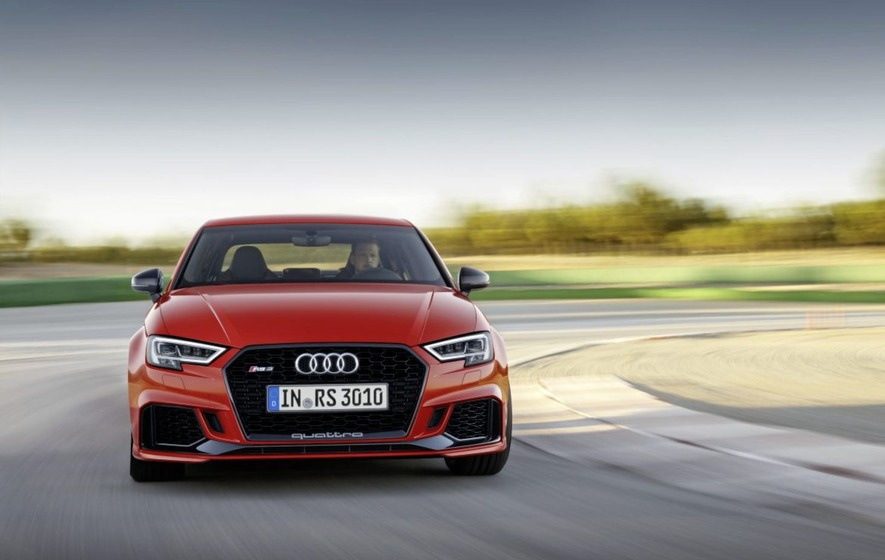 The Audi RS3 saloon - a Valyrian fist in a Gucci glove