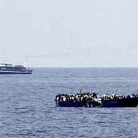 Irish Navy rescue 50 migrants from rubber raft in Mediterranean