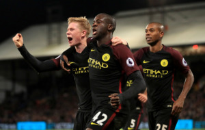 Premier League review: Toure on target as City go top alongside Liverpool
