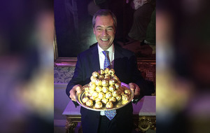 Does having a pyramid of Ferrero Rocher make you an ambassador? Nigel Farage seems to think so