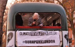 Dame Vivienne Westwood's son sets fire to punk memorabilia on River Thames