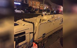 Second lorry hits Banbridge bridge in two days