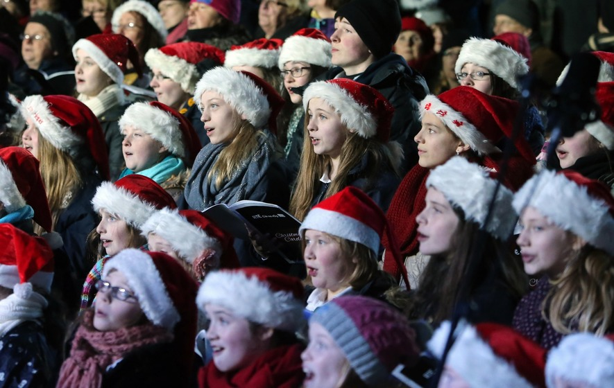 Singing Christmas carols can actually improve your breathing
