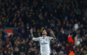Sergio Ramos heads Real Madrid equaliser against Barcelona