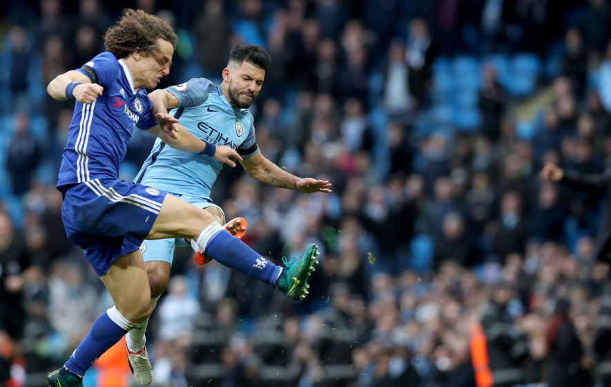 David Luiz puts Sergio Aguero clash down to 'quite normal frustration'