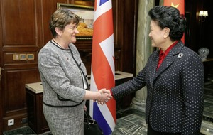 First Minister Arlene Foster begins her four-day visit to China