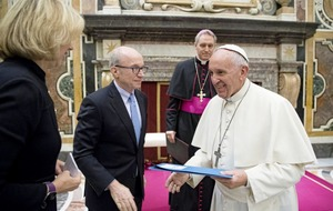 Pope Francis meets Fortune-Time Global Forum