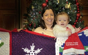 Baby Ríoghnach leads way for Christmas jumper world record attempt