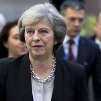 Video: Theresa May left hanging out alone at an EU summit