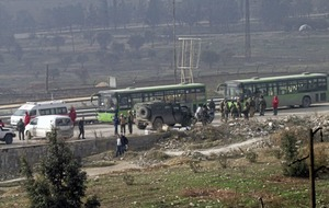 Aleppo evacuation halted after rebel fighter open fire on convoy