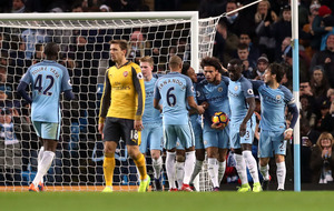 Both Manchester City goals were offside insists Arsenal boss Arsene Wenger