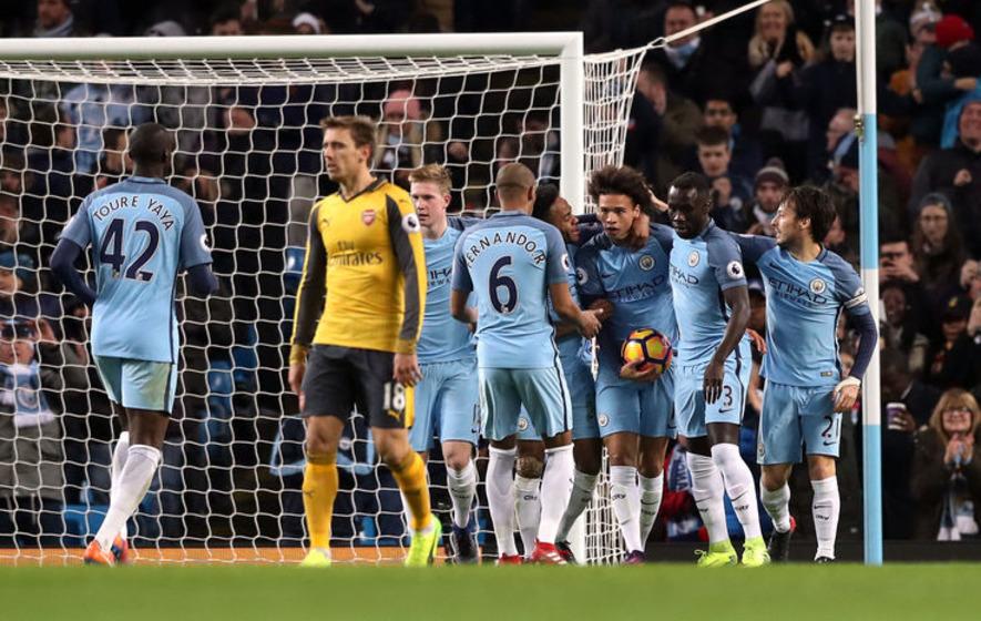 Both Manchester City goals were offside insists Arsenal boss Arsene Wenger