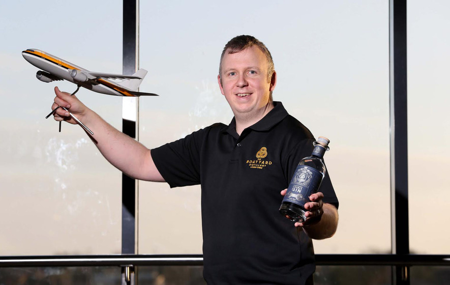 Travellers can now buy Boatyard Double Gin at Belfast International Airport