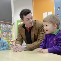 Golfer Rory McIlroy visits new Mencap Centre in Belfast