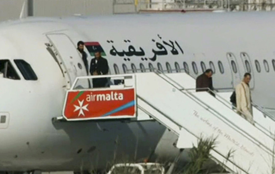 Group of passengers allowed to leave hijacked plane in Malta