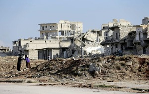 Syrian army say they are dismantling booby traps left by rebels