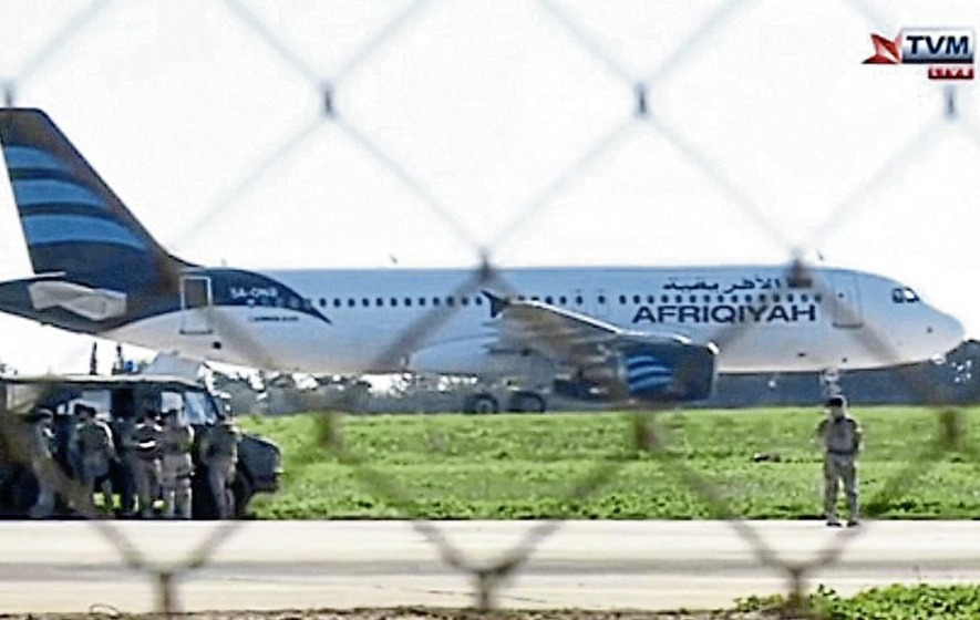Libyan hijackers surrender peacefully as passengers and crew are freed