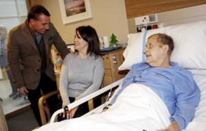 Celtic manager Brendan Rodgers visits Northern Ireland Hospice on Christmas Day