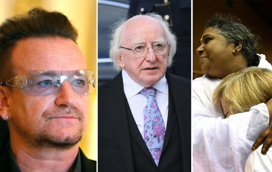 Bono and Michael D Higgins 'should join hugging guru Amma in peace taskforce'