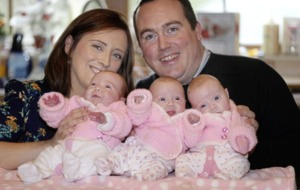 Co Tyrone family's joy as identical triplet girls come home