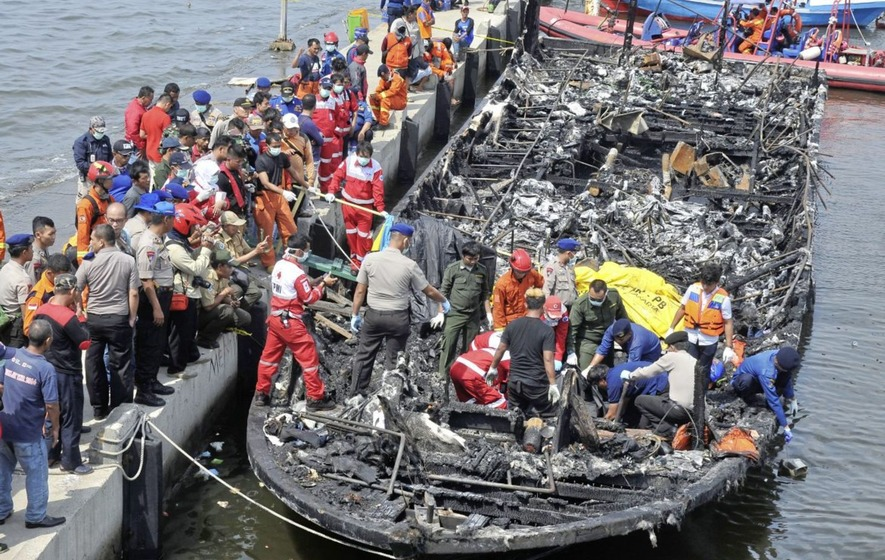 Twenty-three dead after ferry catches fire near Indonesian capital
