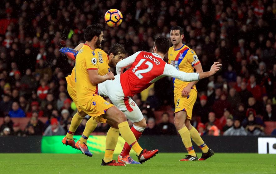 Olivier Giroud wondergoal sees Arsenal past Crystal Palace