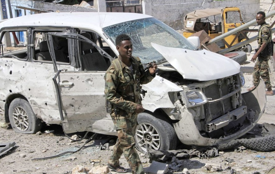 Suicide car bomb kills at least three in Somalia's capital Mogadishu