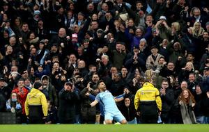Manchester City overcome Fernandinho sending-off to beat Burnley