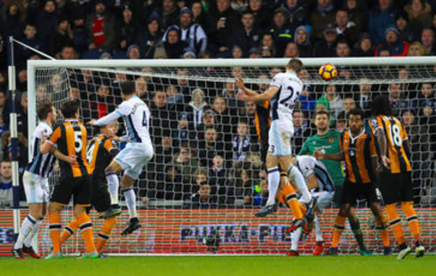 Gareth McAuley helps West Brom to victory against lowly Hull