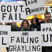 Commuters vent under #railfail after train fares rise again