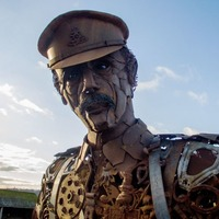 This giant scrap metal soldier made to commemorate those who died in WWI is pretty incredible