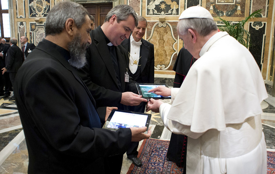 Pope Francis shows cybersecurity skills with sticker over iPad camera