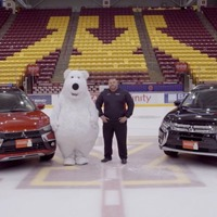 How long can you last without laughing at this poor polar bear mascot continually falling over?
