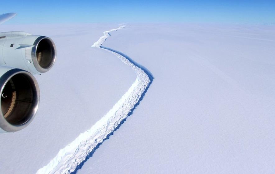 A huge iceberg is poised to break off in Antarctica