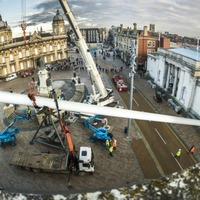 Hull has a new piece of artwork, coming in at a massive 75 metres long and 28 tonnes