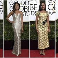 The stars come out in their shiny finery to be named best dressed at the Golden Globes