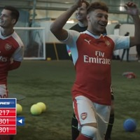 Arsenal stars played football darts and proved being a footballer really is the coolest job