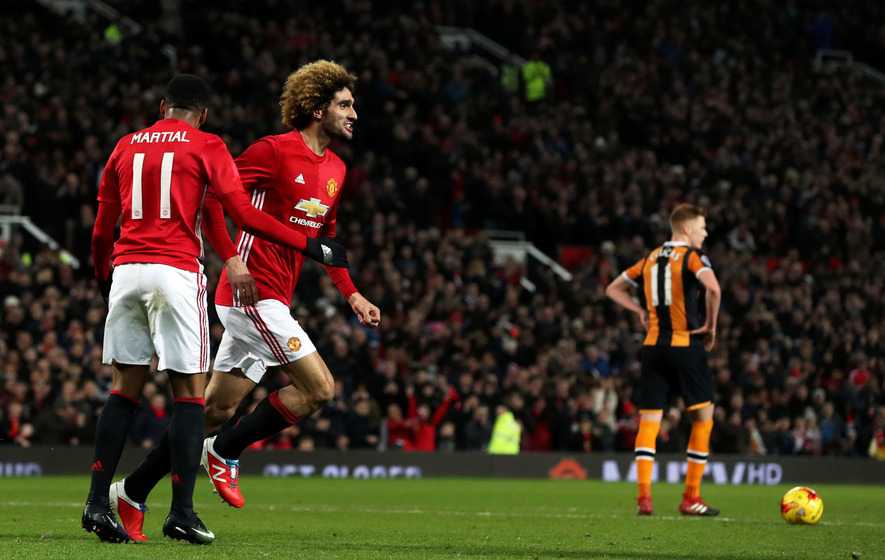 Manchester United understood to have triggered a one-year extension clause on Marouane Fellaini's contract