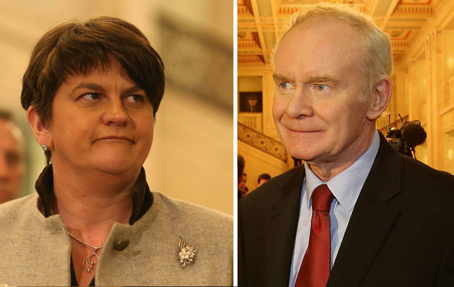 Arlene Foster and Martin McGuinness face each other in Assembly chamber