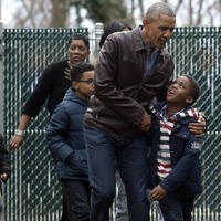 Prepare for your heart to explode looking at the Obamas visiting a children's shelter