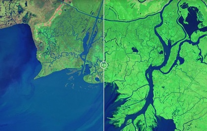 Nasa is doenting Earth's dramatic changes with 'then and ... Satellite Map Nasa on nasa earth real-time, cia satellite map, sports satellite map, world earth globe map, planet earth world map, sir francis drake route world map, microsoft satellite map, atlantic water vapor map, asia satellite map, live satellite world map, california satellite map, aqua satellite map, animals satellite map, chemtrail satellite map, mars satellite map, high resolution satellite world map, new york state satellite map, nasa asia, nasa earth maps, google satellite map,