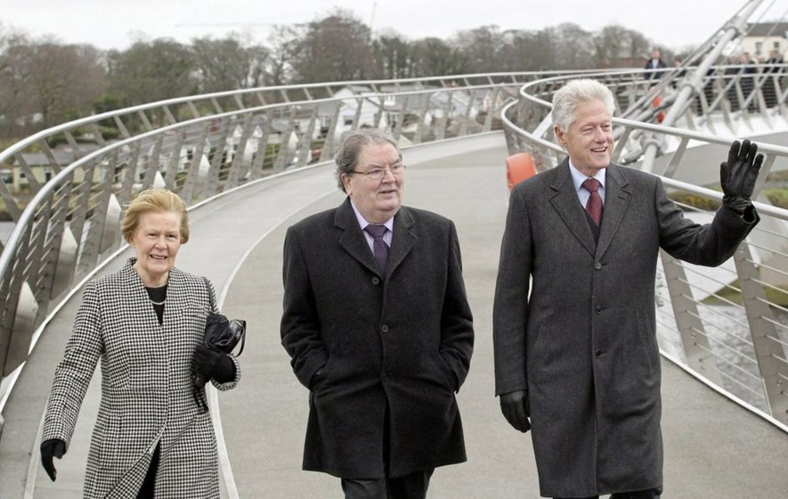 President Clinton leads 80th birthday tributes to John Hume