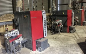 RHI boilers running in Fermanagh shed with the door open