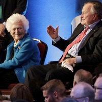 George H Bush in intensive care while wife Barbara also hospitalised