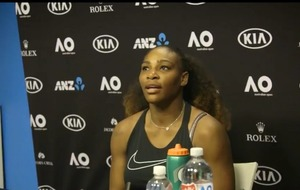 Serena Williams was thoroughly unimpressed by one reporter's assessment of her 'scrappy performance'